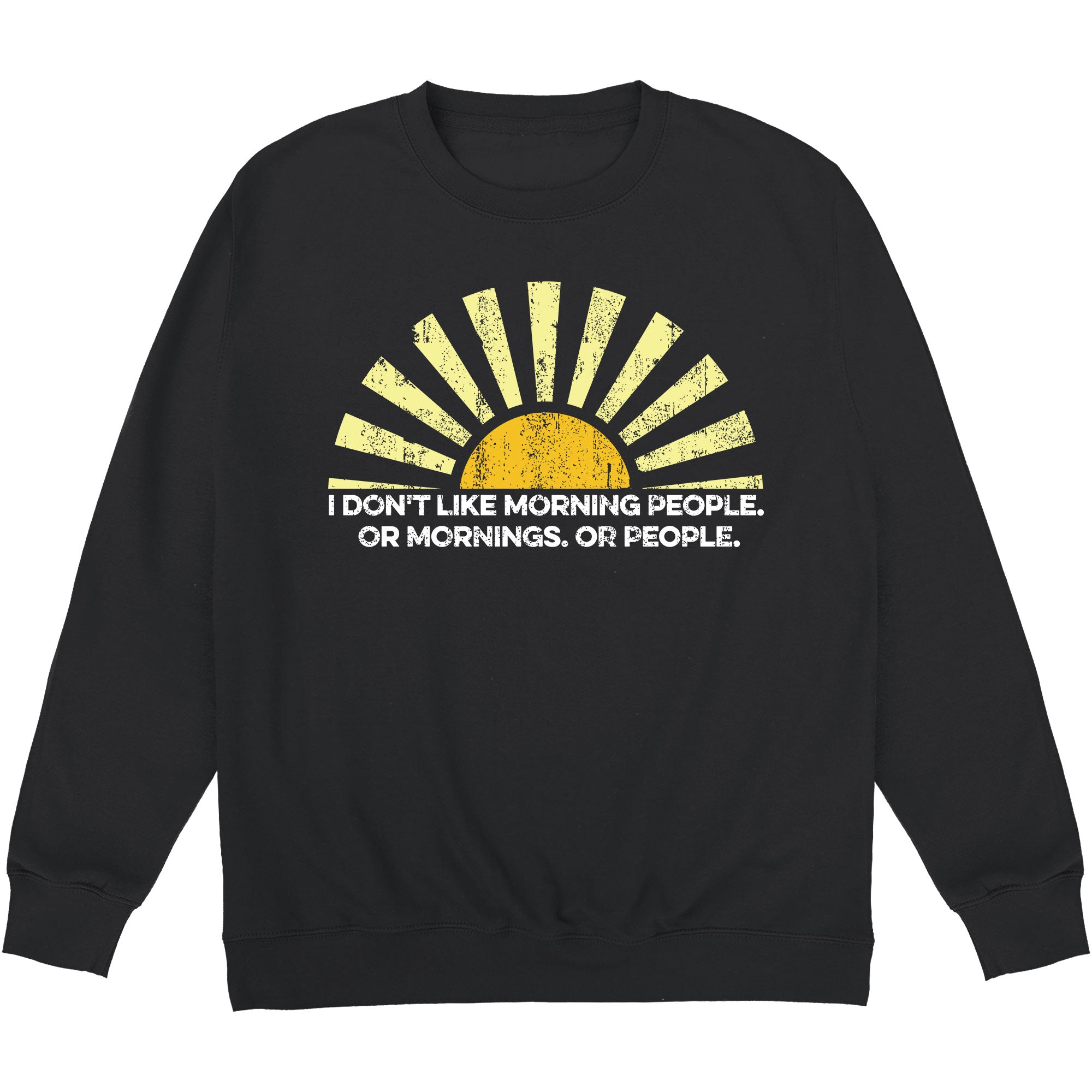CHEAP Morning People Sweatshirt 24322677205 – Clothing Accessories