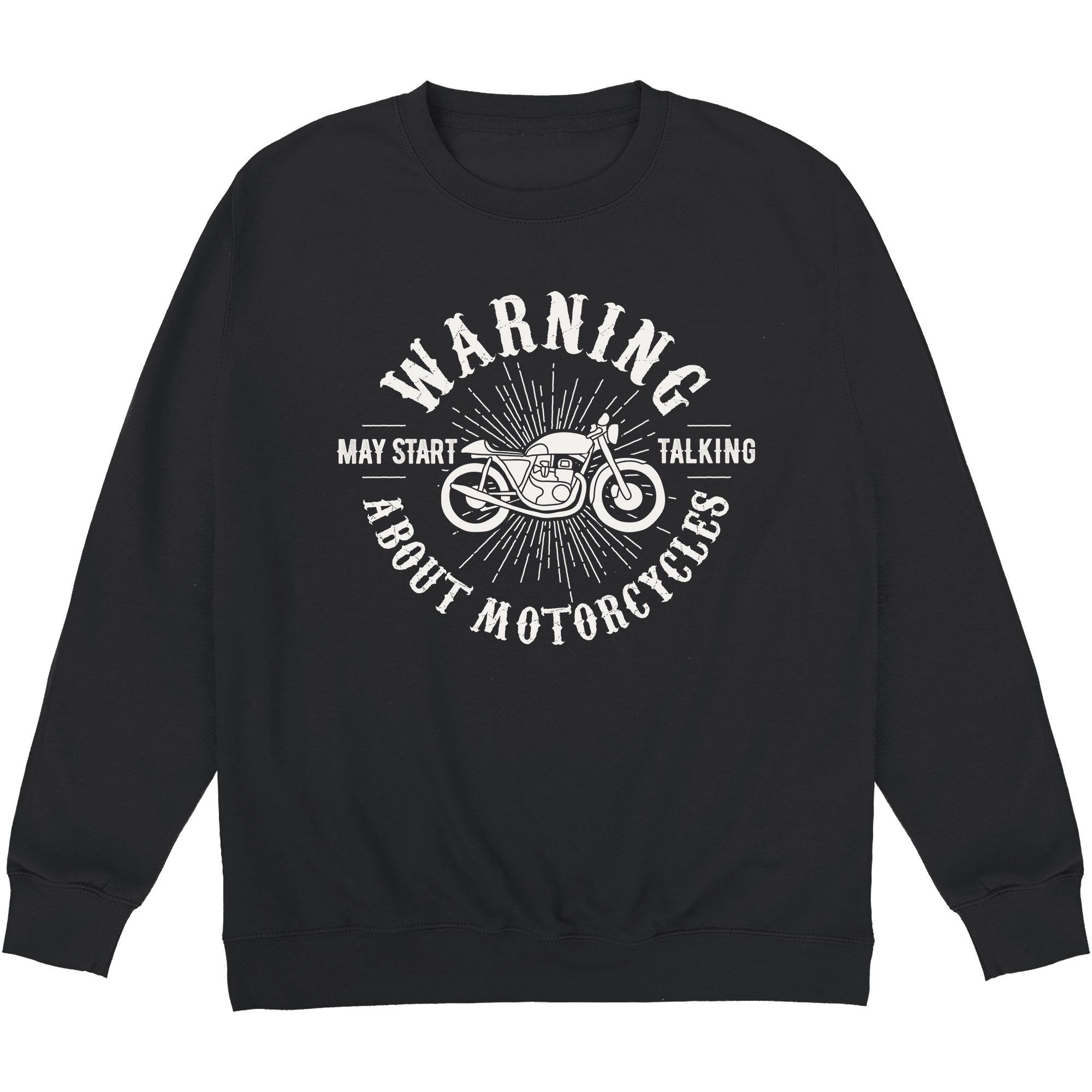 CHEAP May Start Talking About Motorcycles Crewneck Sweatshirt 24322677131 – Clothing Accessories