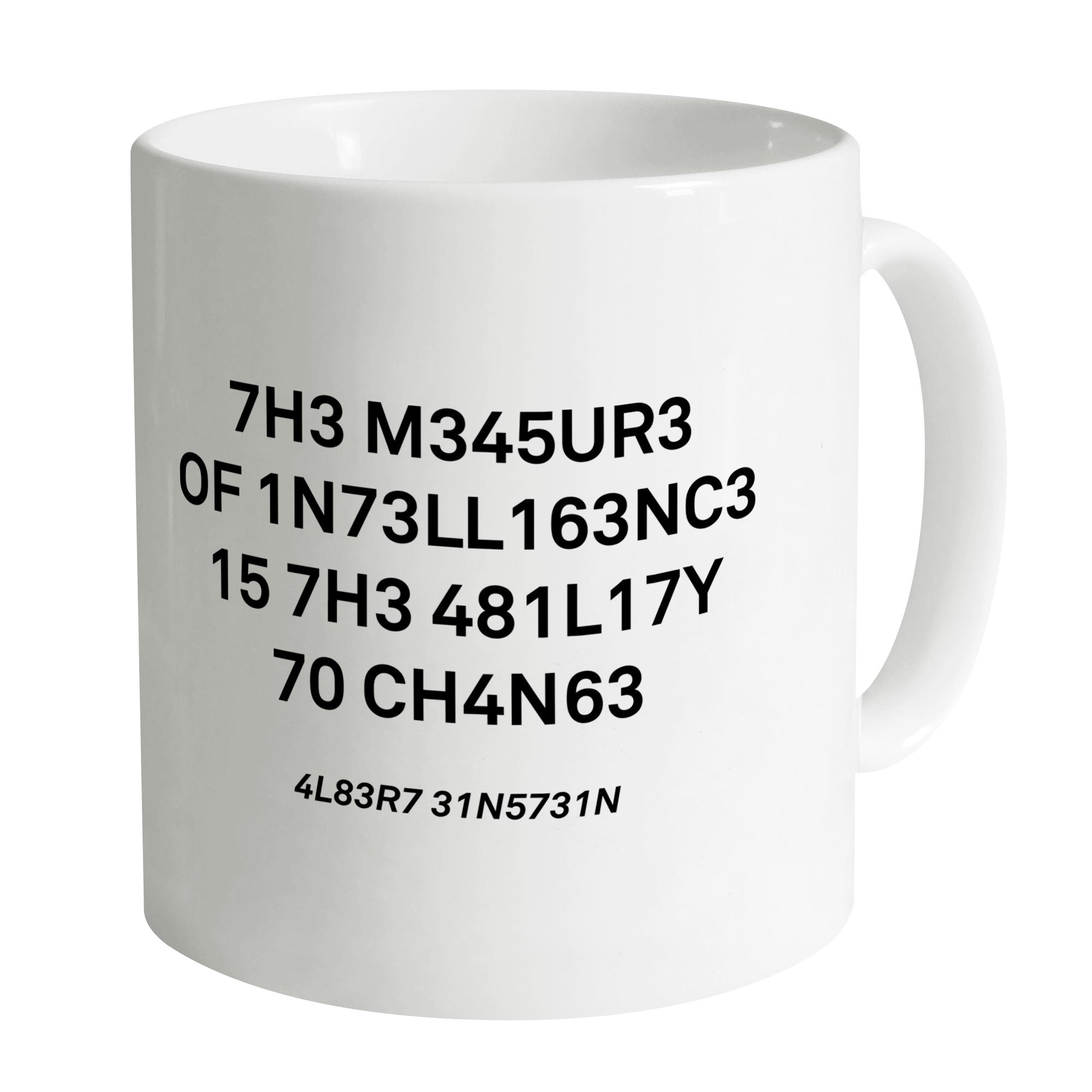 Cheap The Measure of Intelligence Mug Clothing & Accessories