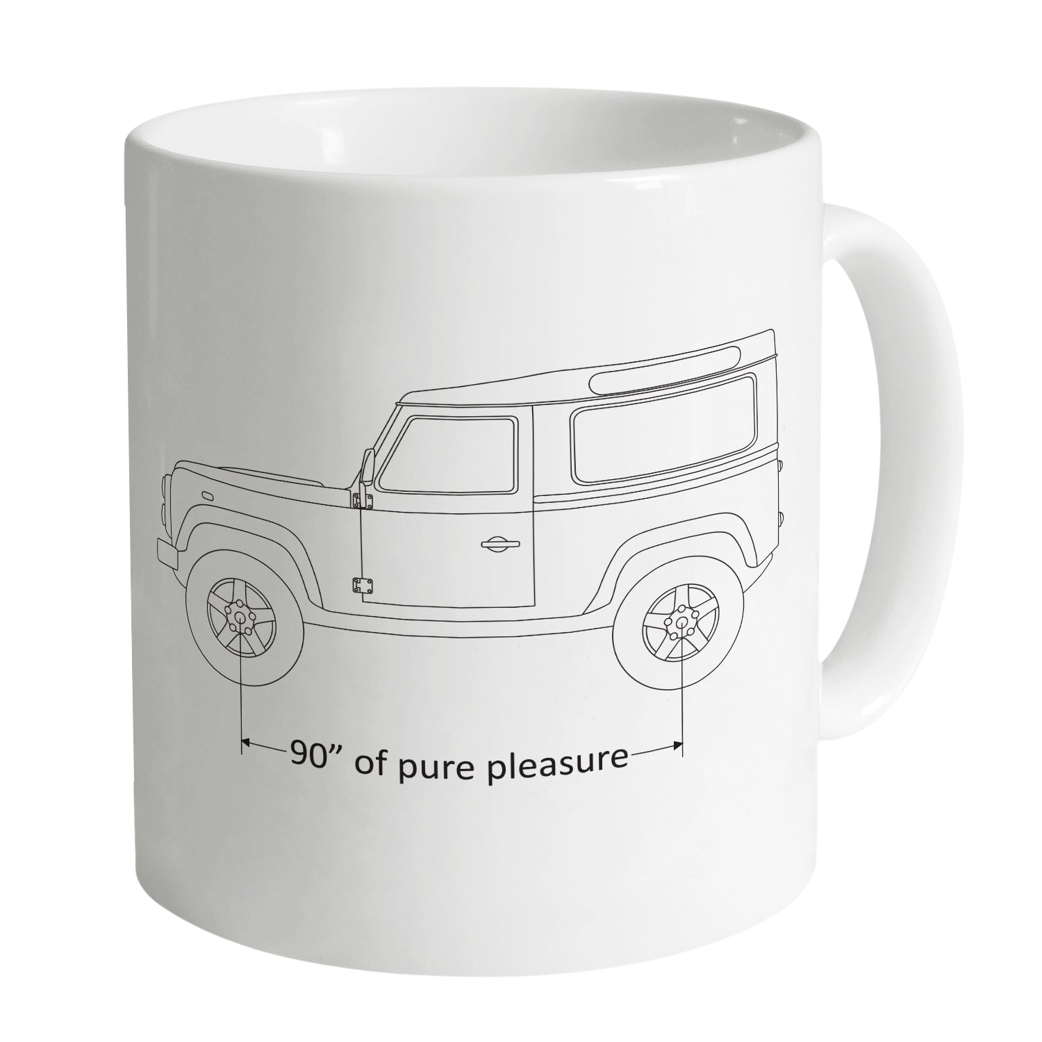 Cheap 90 Inches of Pure Pleasure Mug Clothing & Accessories
