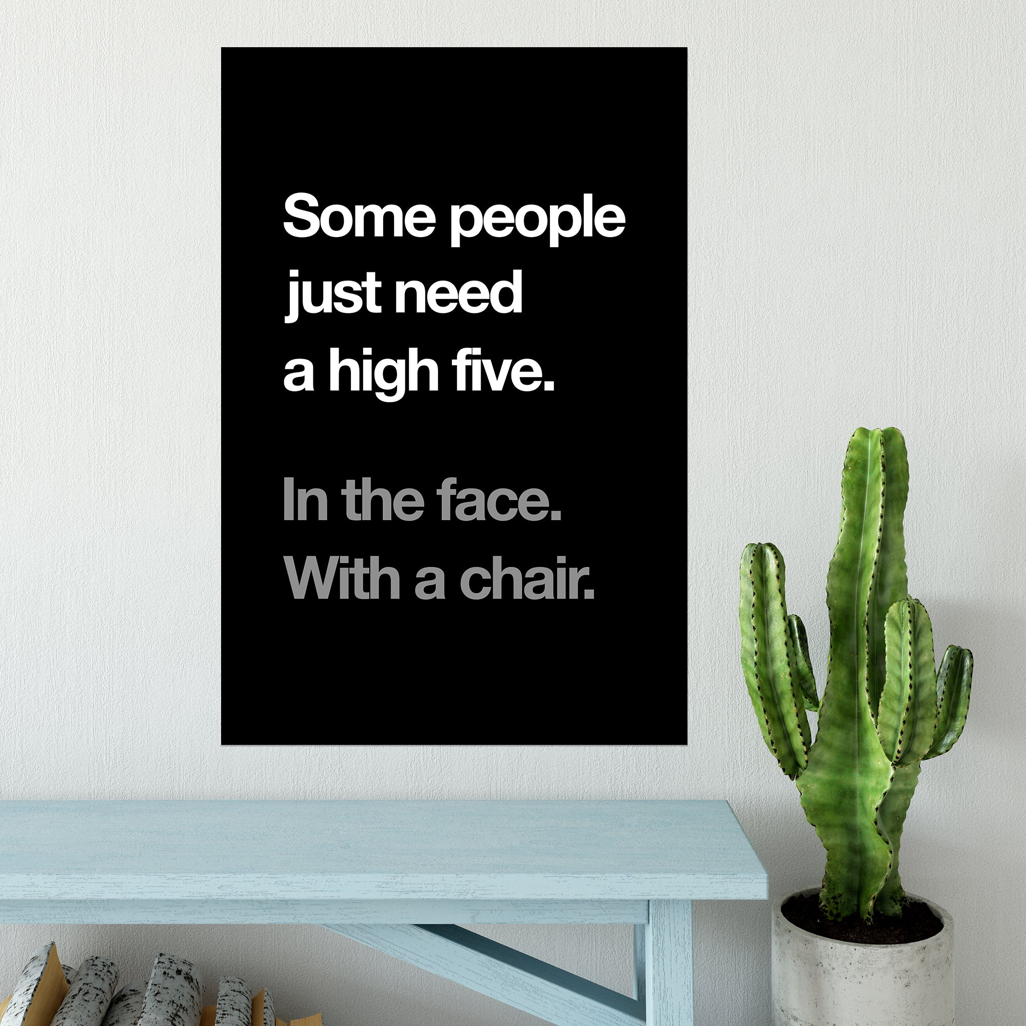 CHEAP High Five In The Face Poster 25050042225 – Clothing Accessories