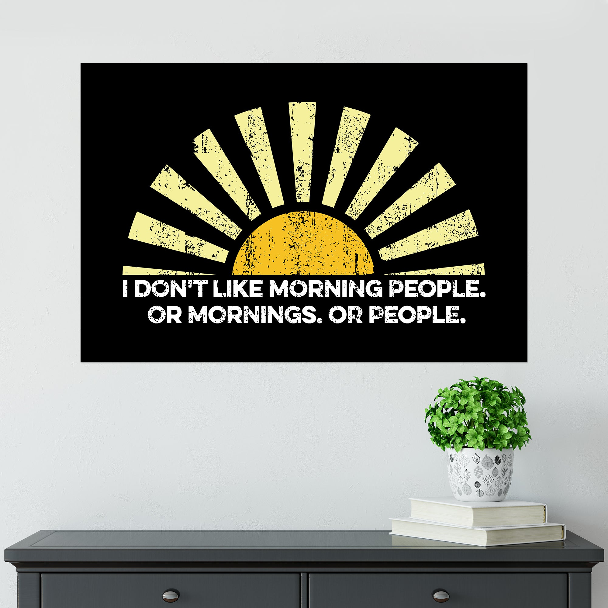 CHEAP Morning People Poster 25050042231 – Clothing Accessories