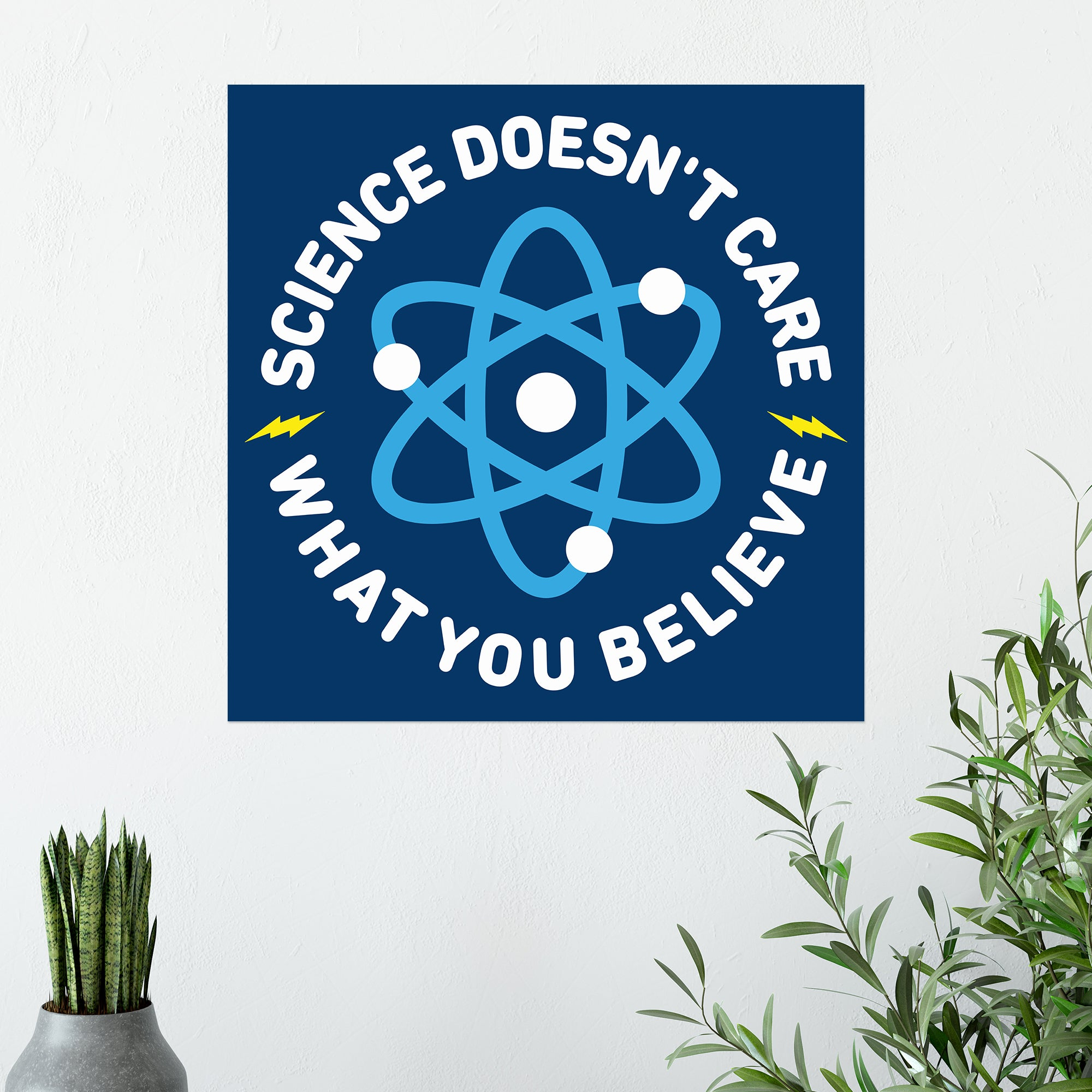 CHEAP Science Doesn't Care Poster 25050042239 – Clothing Accessories