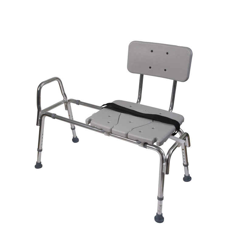 Sliding Transfer Bench Shower Chair with Cut-Out Seat