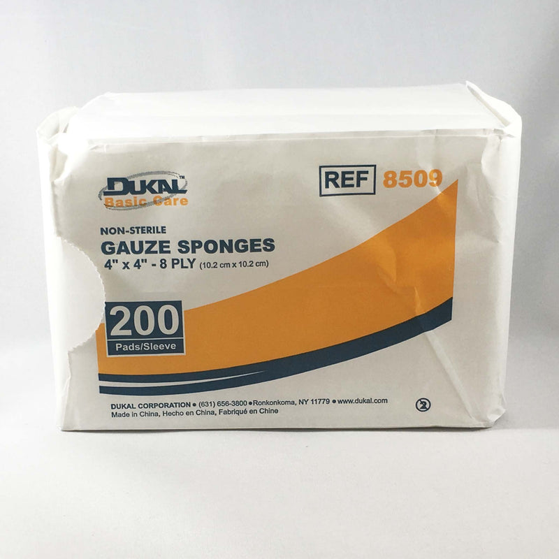 "Basic Care Gauze Sponges (Non-Sterile) 4"" X 4"""