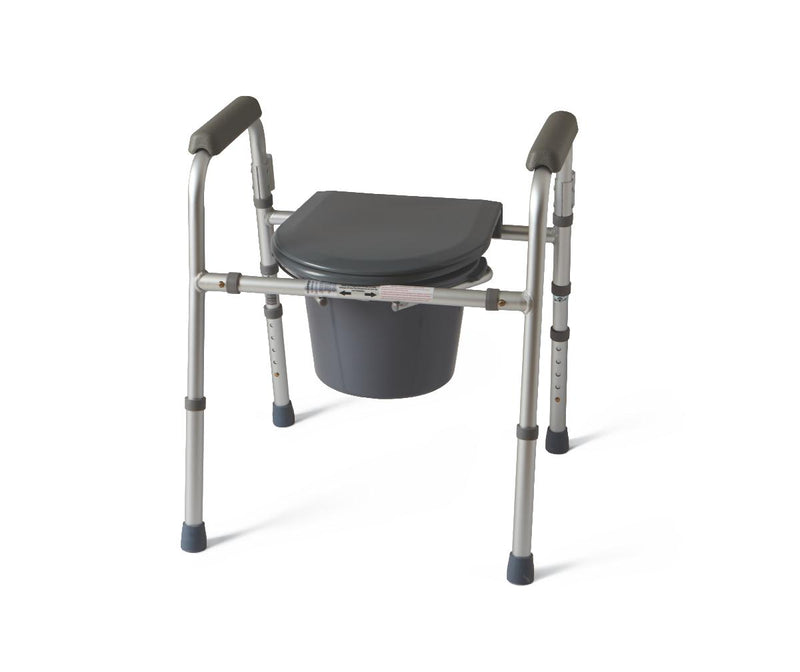 Folding 3 in 1 Commode