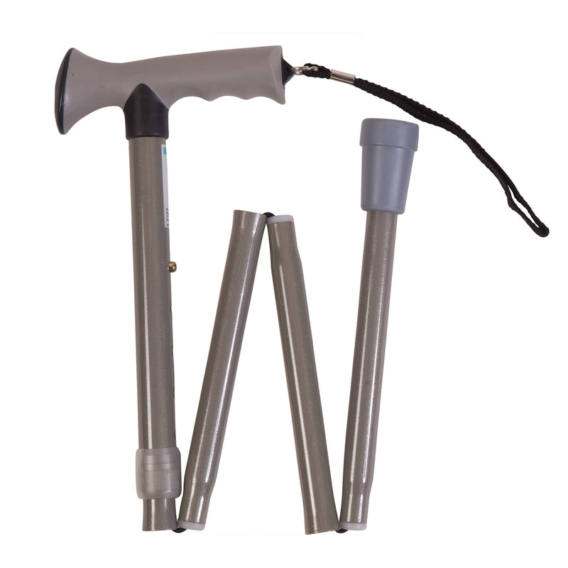 Comfort Grip Folding Cane (Gray)