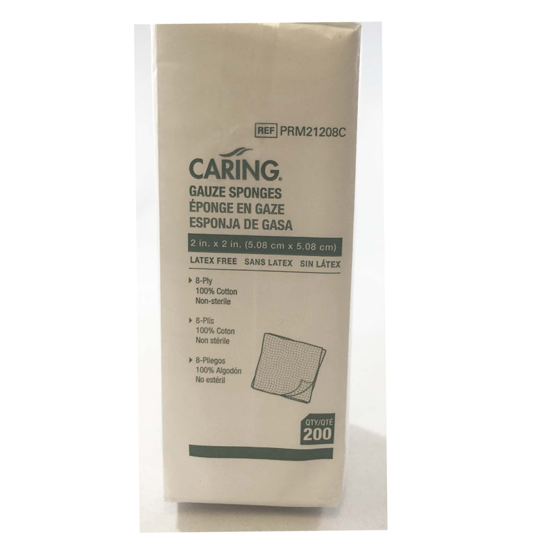 "Caring Gauze Pads (Non-Sterile) 2"" X 2"""