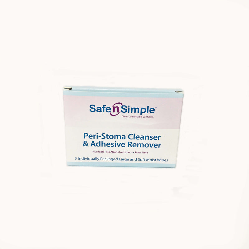 SafenSimple™Peri-Stoma Cleanser & Adhesive Remover box of 5 Individual Wipes