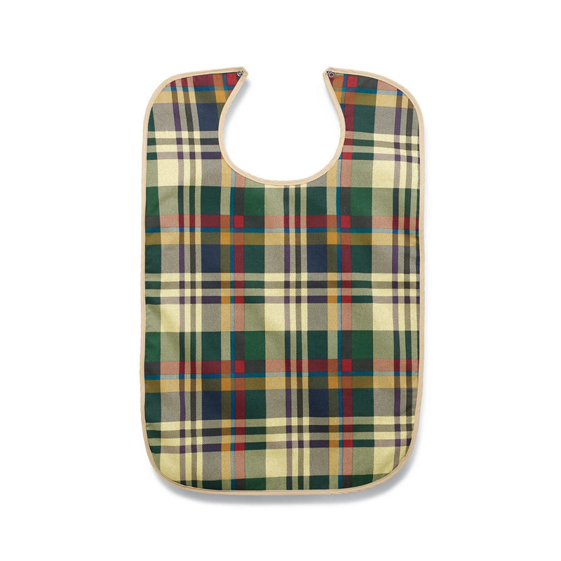 Tartan Print Snap Closure Clothing Protectors