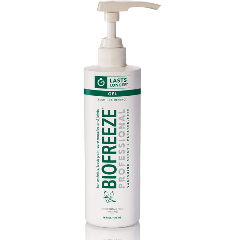 Original Green Biofreeze Professional Pain Relieving Gel, Pump