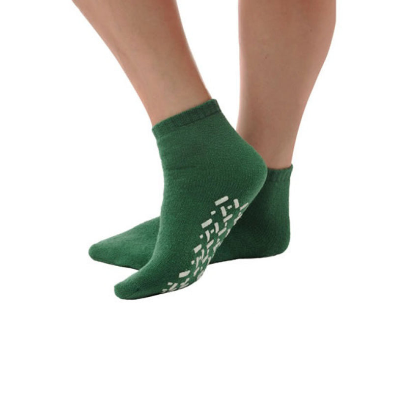 Skid Resistant Green Booties (Medium)
