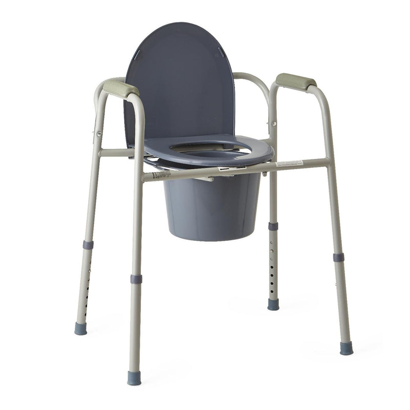 Medline Guardian Steel Bedside Commode