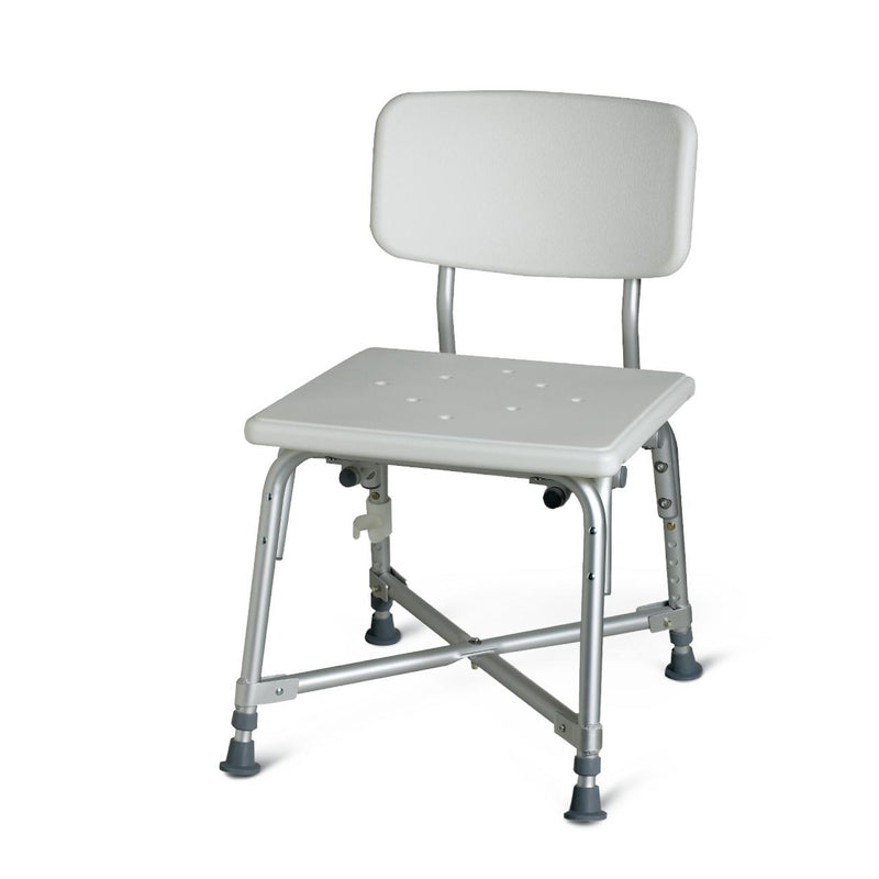 Guardian Bariatric Aluminum Shower Chair with Back