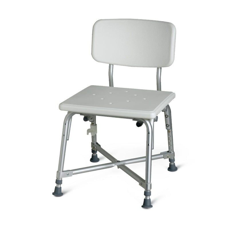 Deluxe Bariatric Aluminum Shower Chair with Cross-Frame Brace