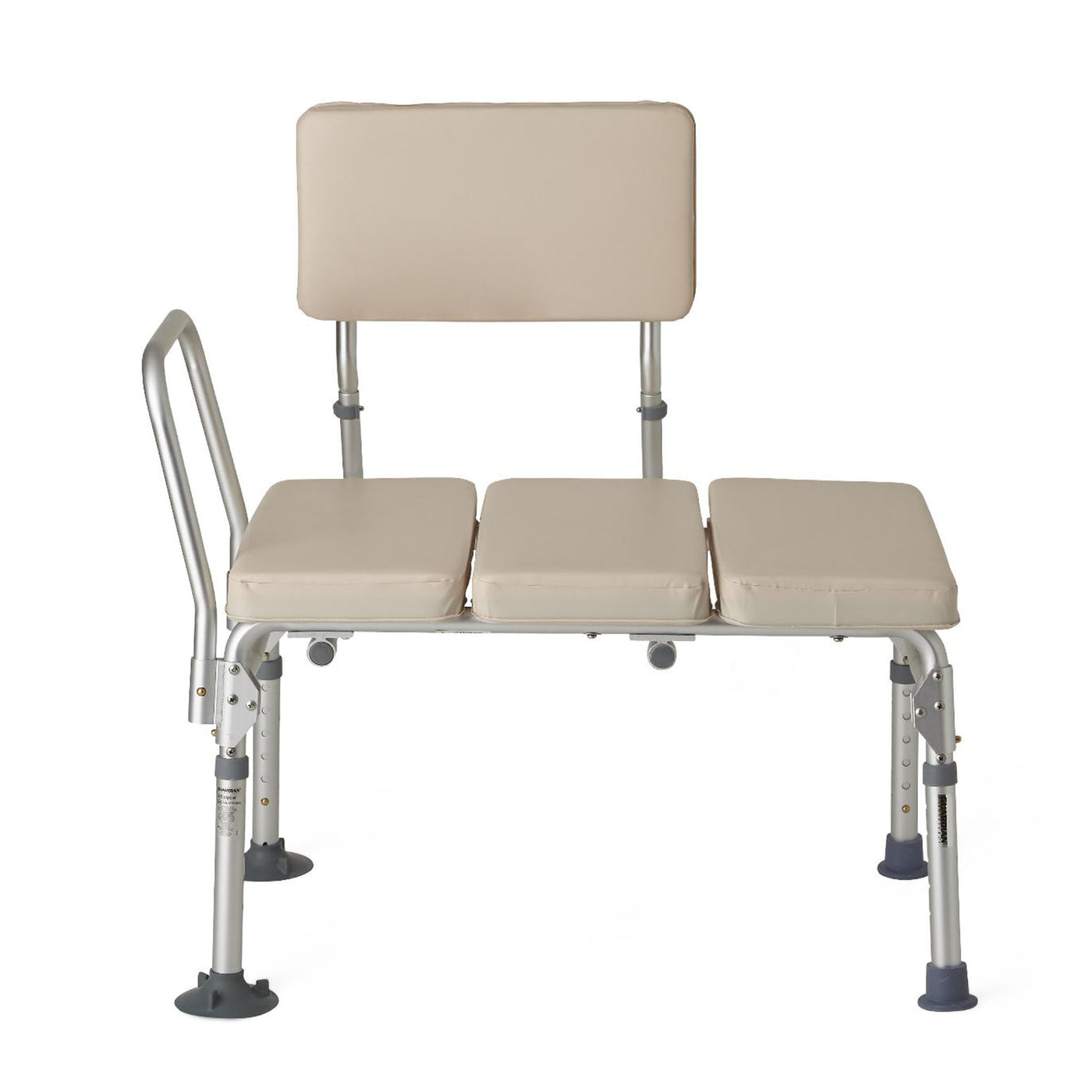 Medline Guardian Padded Transfer Bench at Meridian Medical Supply