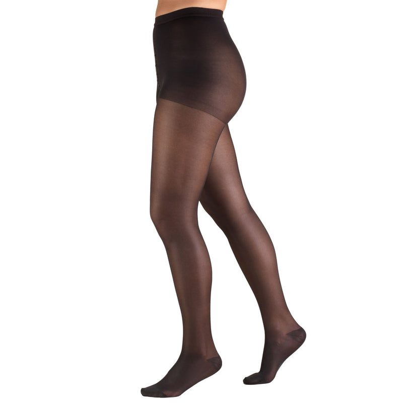 Women's Compression Pantyhose, 15-20 mmHg, Sheer Black, 1775