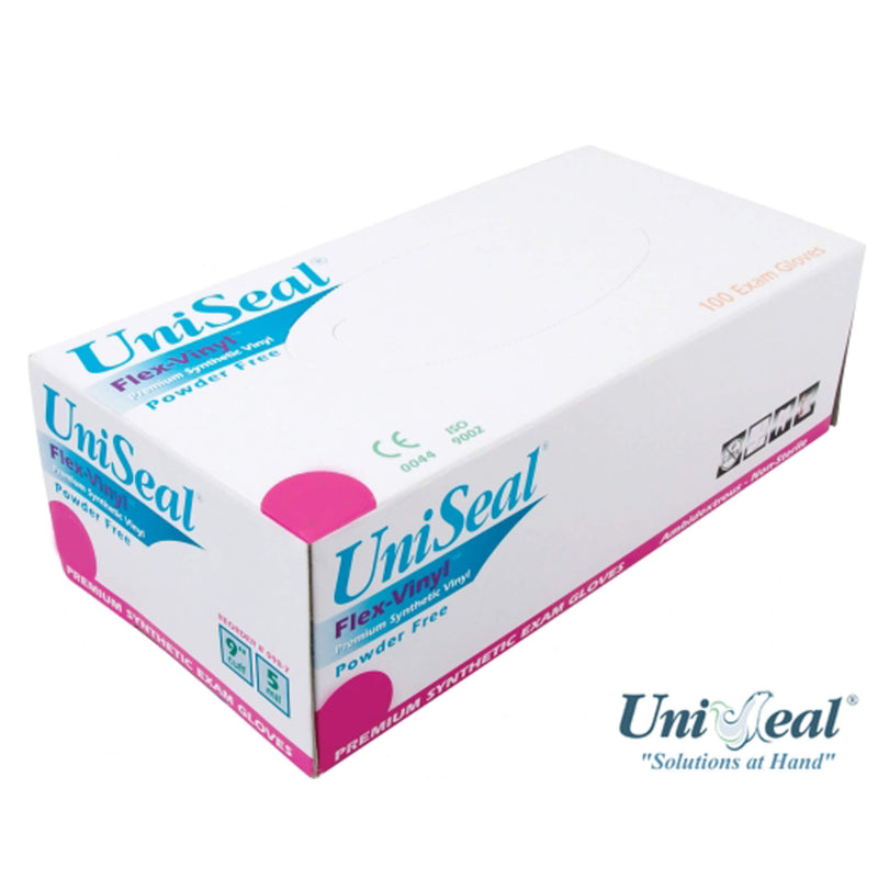 Uniseal Flex Vinyl Powder-Free Gloves (Medium)