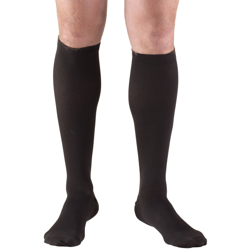 Men's Knee High Dress Socks, 20-30 mmHG, Black, 1944