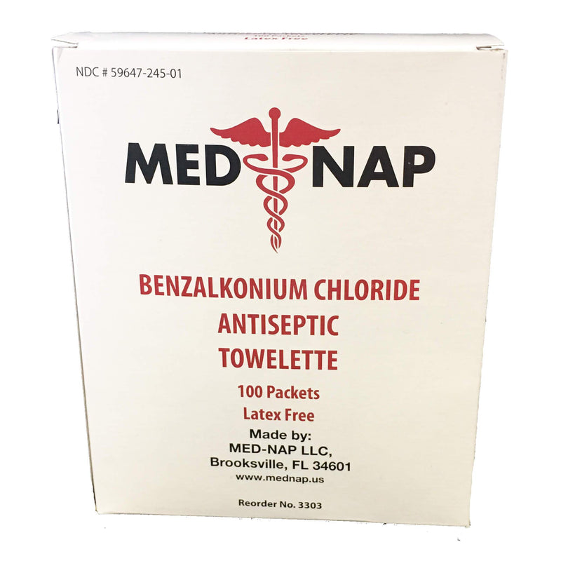 Medline Benzalkonium Chloride Towelettes
