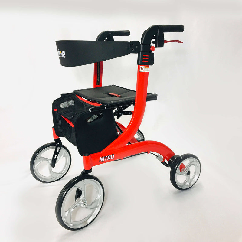 "Nitro Aluminum Rollator, 10"" Casters by Drive™"