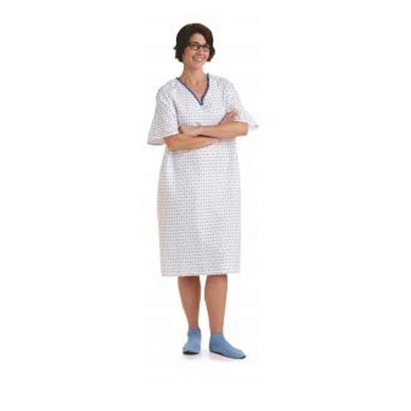 Overlap Back Closure IV Patient Gown