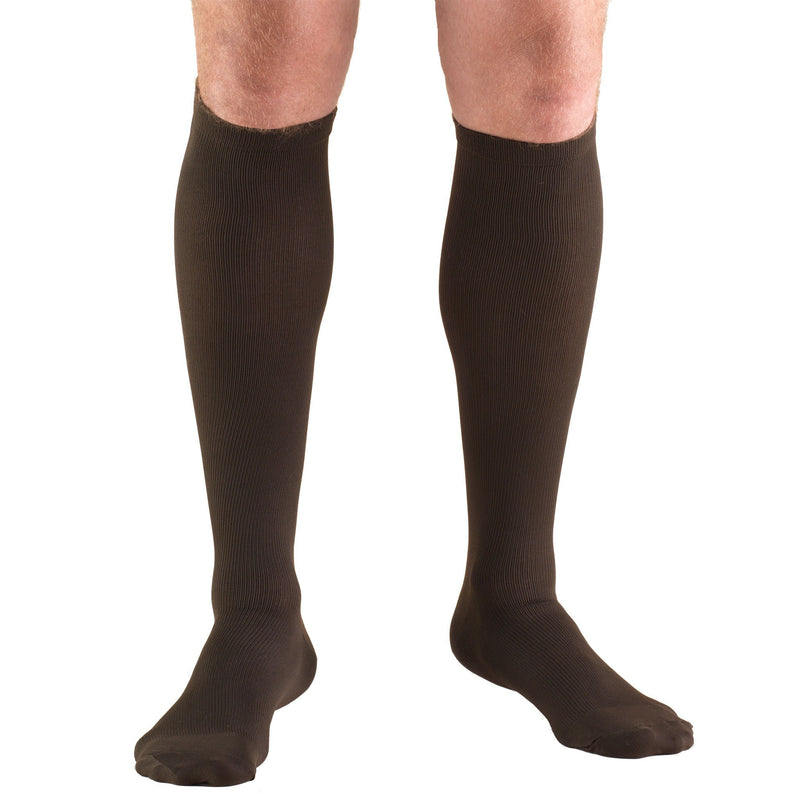 Men's Knee High Compression Socks , 8-15 mmHg, Brown, 1942BN