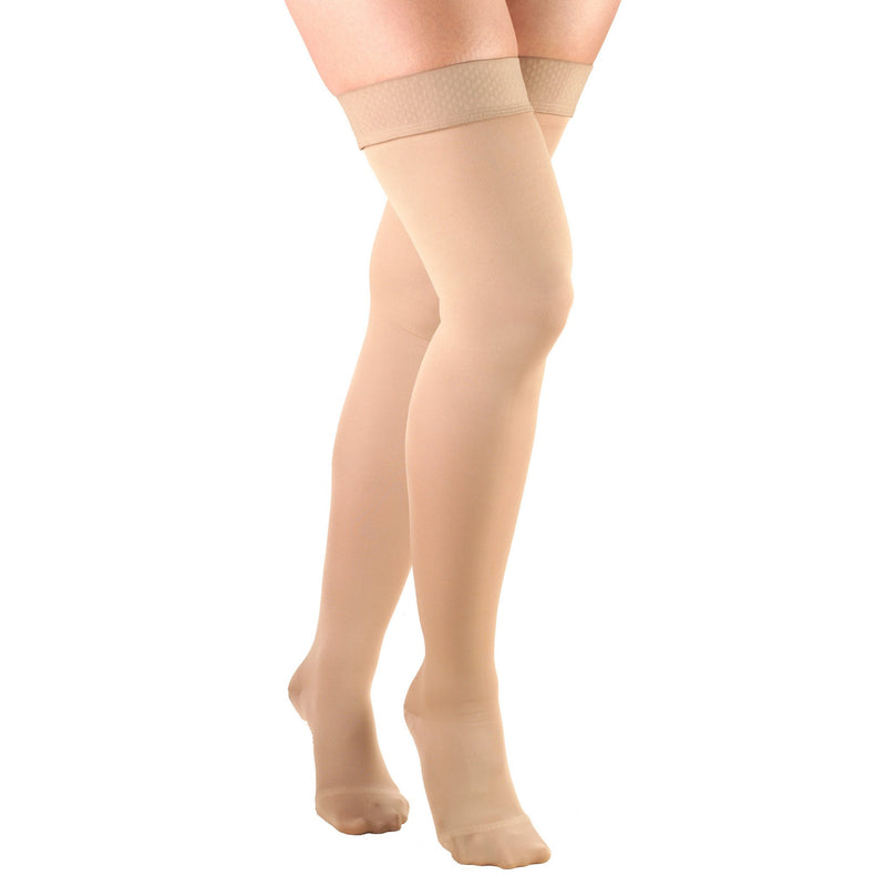 Women's OPAQUE Thigh High Compression Stockings,15-20mmHg,Beige 0374