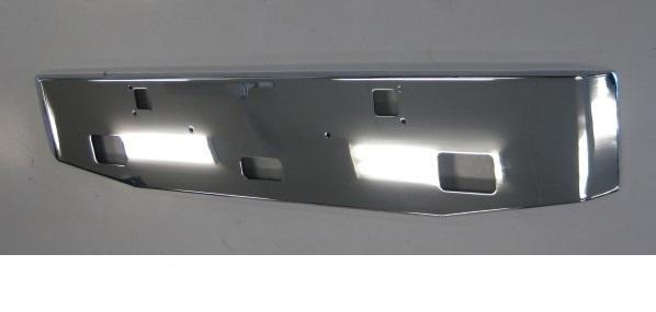 Kenworth W900 L, B Axle Forward Steel Chrome Bumper Tapered 18 in. Tall 3/16in. Stee - Big Truck Hoods