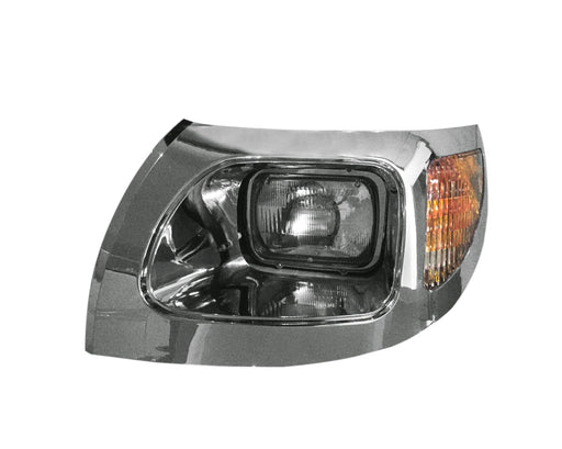 International 7300, 7400, 7500, 7600 & 7700 Headlight Assembly 03-07 W/Chrome Bezel LH - Big Truck Hoods