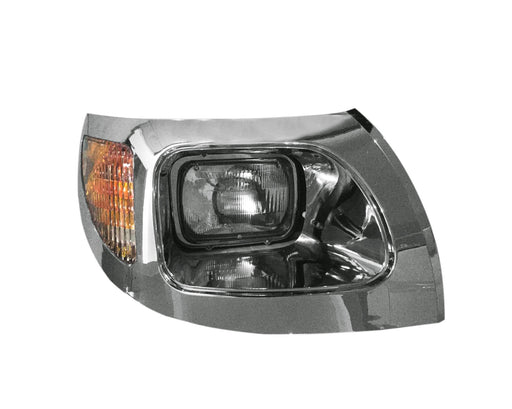 International 7300, 7400, 7500, 7600 & 7700 Headlight Assembly 03-07 W/Chrome Bezel RH - Big Truck Hoods