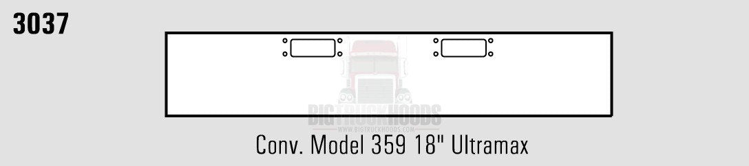 Peterbilt 359Steel Chrome 18? Ultra Max Bumper - Big Truck Hoods