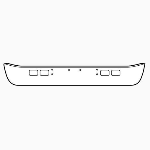 International 4600 / 4700 / 4900 / 8100 Bumper Steel Chrome. US. - Big Truck Hoods