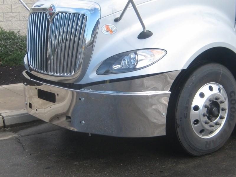 International ProStar  Steel Chrome Bumper - Big Truck Hoods