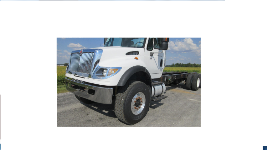 International 7300, 7400, 7500, 7600, 7700 Standard Wrap Steel Chrome Bumper - Big Truck Hoods
