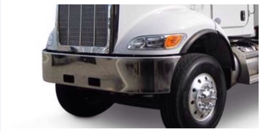 "Peterbilt 348 Steel Chrome Bumper 16"" - Big Truck Hoods"