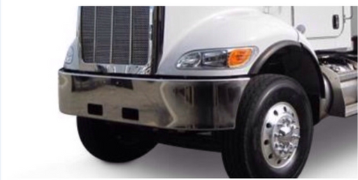 Peterbilt 348 Steel Chrome Bumper 16""