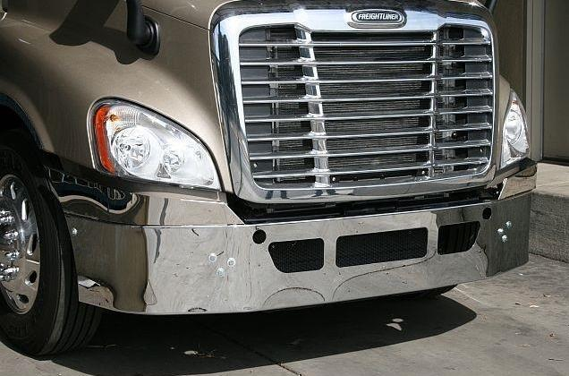 Freightliner Cascadia Bumper Steel Chrome  US Made. - Big Truck Hoods