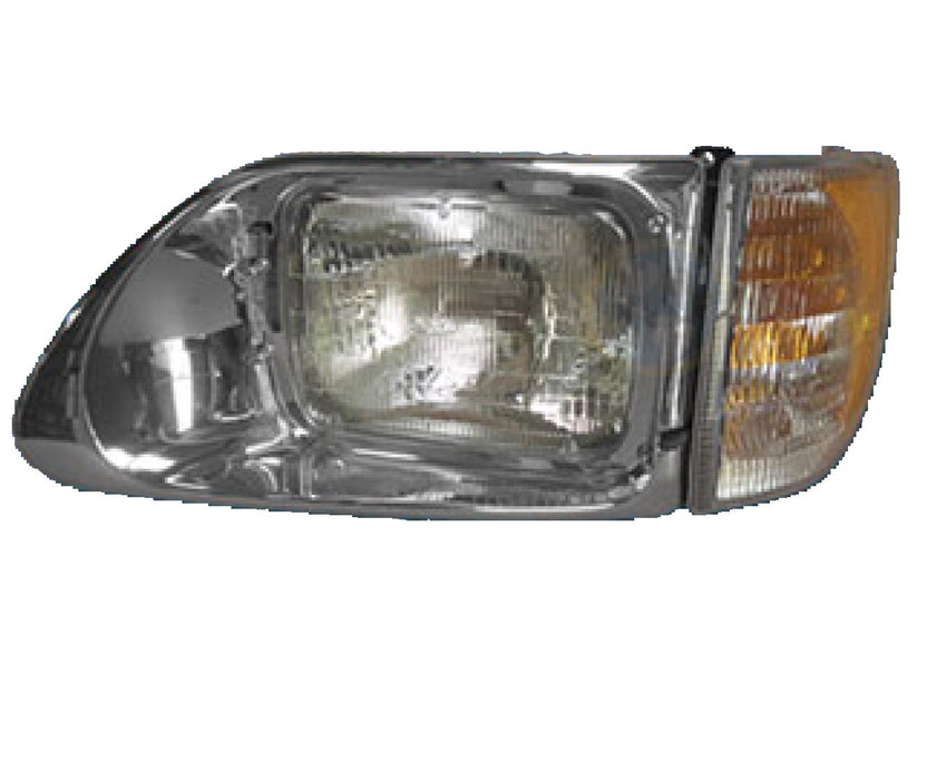 International 9200 / 9400 New Aftermarket Drivers Side Headlight Assembly - Big Truck Hoods