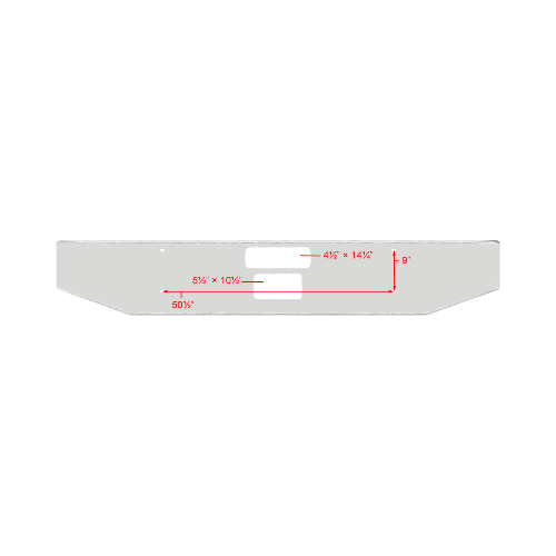 Western Star 49X 16 in. 4 Bolt Tapered Aluminum Bumper *Cosmetic Blemish