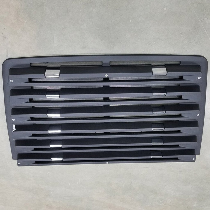 Freightliner 114SD OEM Take Off Grill 6 Louvers With Chrome and Winter Front Snaps - Big Truck Hoods