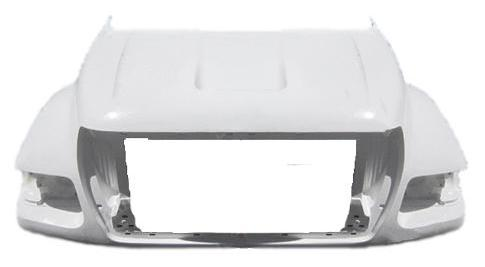 Ford F-650 / F-750 / F-850 New Aftermarket Hood 2000-2004 - Big Truck Hoods