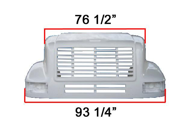 International 7100 / 8100 New Aftermarket Hood - Big Truck Hoods