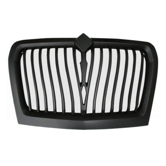International LT Grill Modified Design Black Matte Plastic - Big Truck Hoods