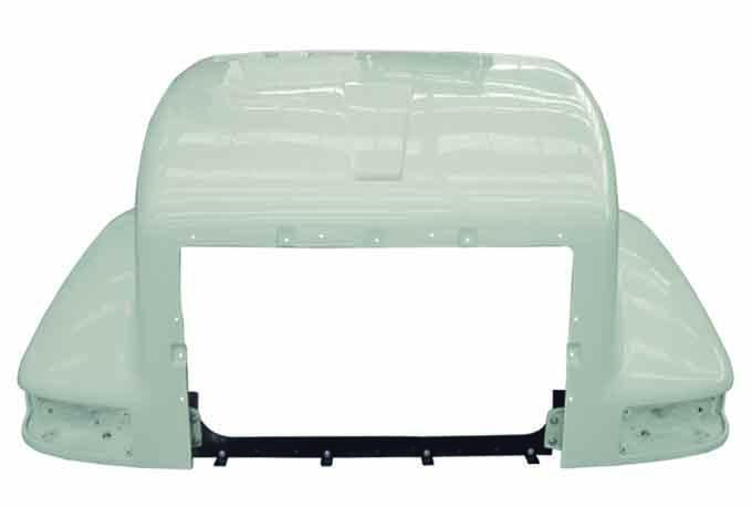 International 9400 New Aftermarket Hood Old Style Air Through Cab - Big Truck Hoods