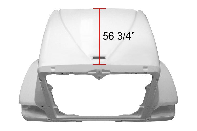 International 9900I Short / 5900 SFA Hood - Big Truck Hoods
