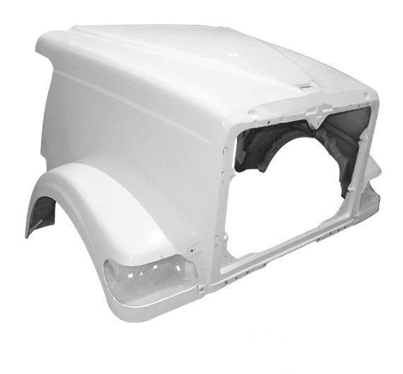 International 9900I Short / 5900 SFA Hood W/Breather Cutouts - Big Truck Hoods