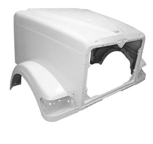 International 9900I Short / 5900 SFA New Aftermarket Hood w/o Breather Cutout - Big Truck Hoods