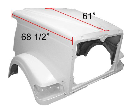 International 9900I / 5900 SFA New Aftermarket Hood With Breathers 124BBC - Big Truck Hoods