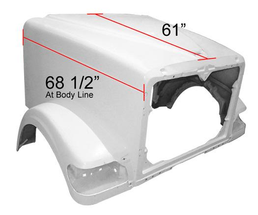 International 9900I New Aftermarket Hood 124BBC - Big Truck Hoods